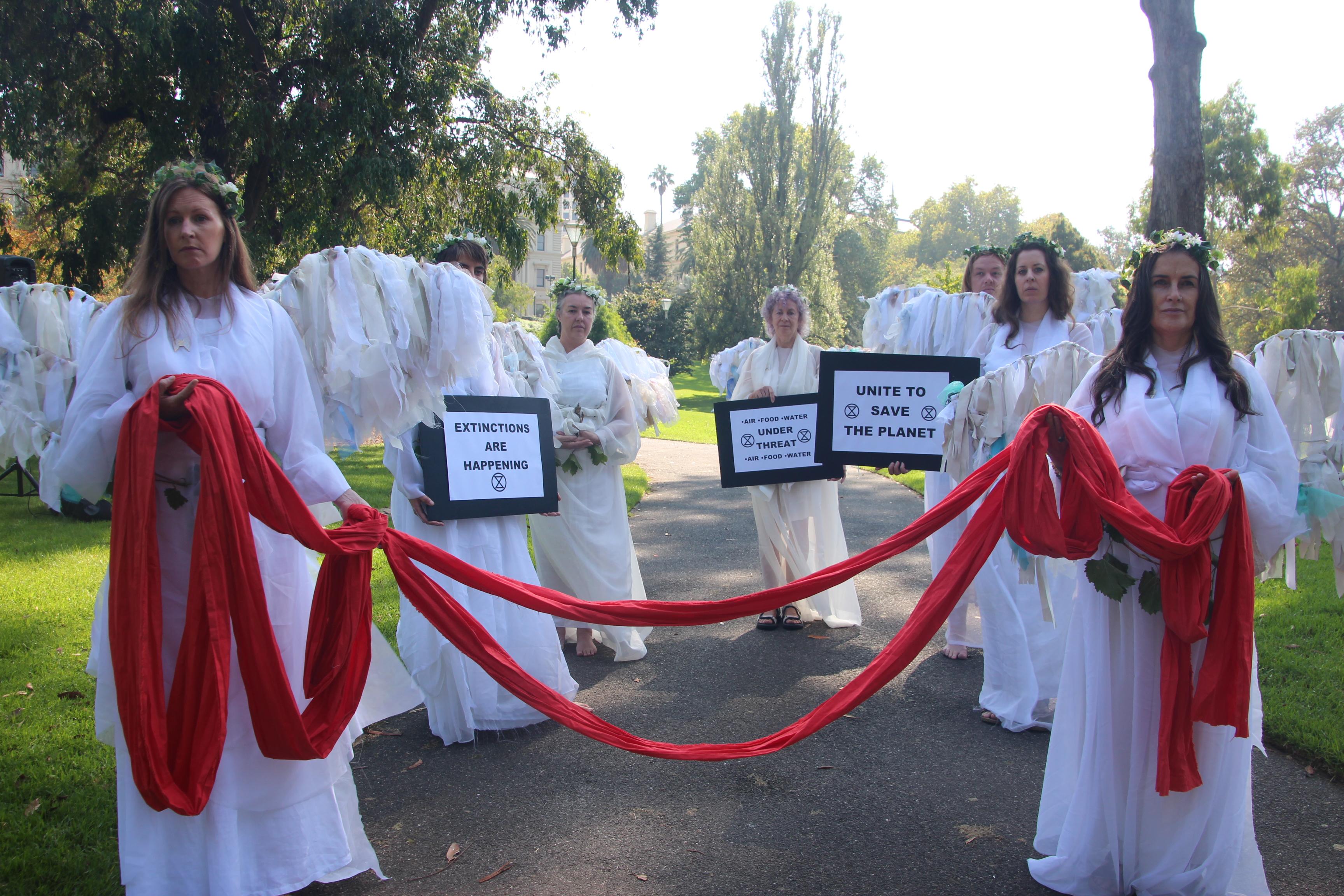 Climate Angels at Extinction Rebellion Declaration Day Melbourne