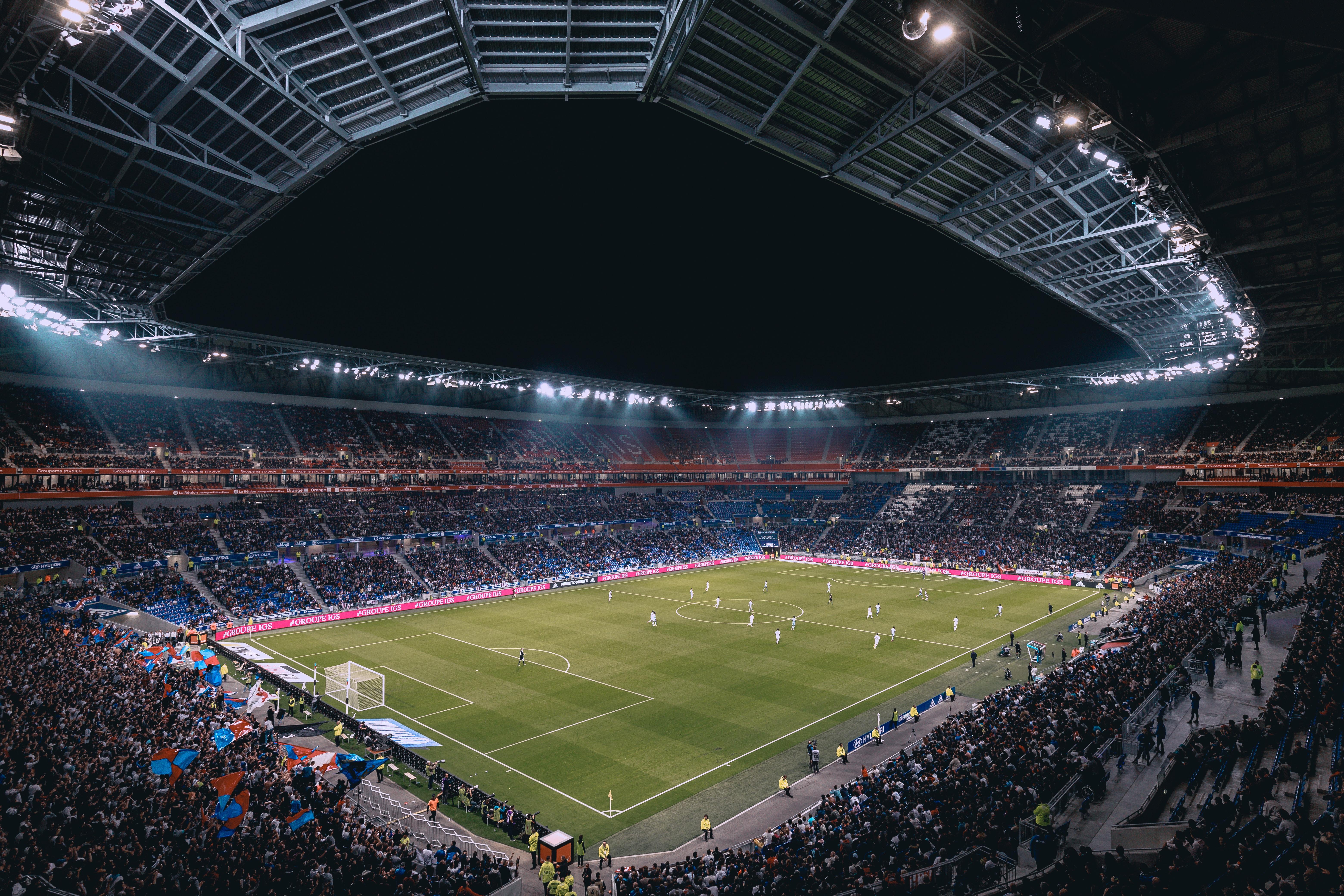 Full football stadium