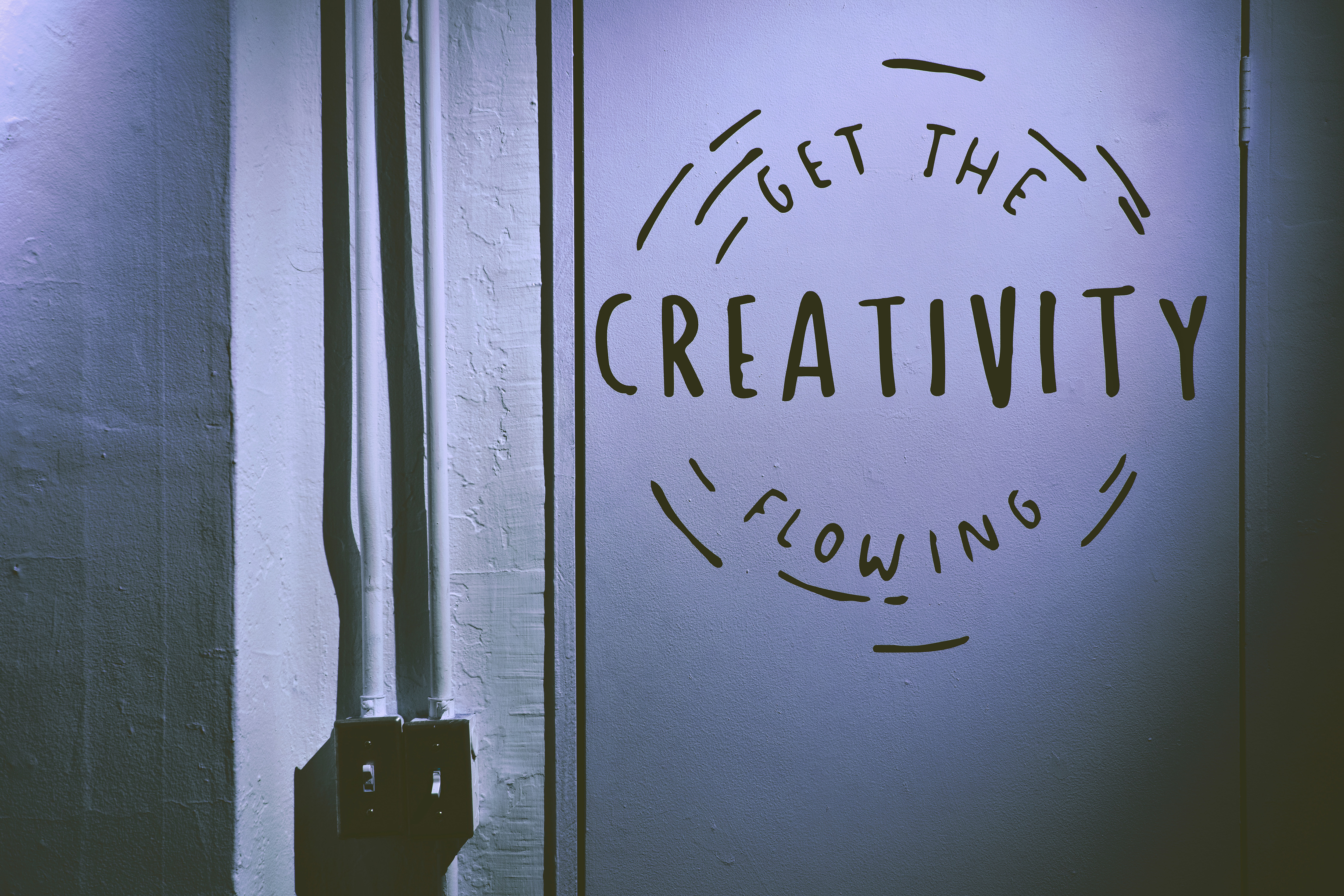 Photo illustration sayin 'get the creativity flowing'